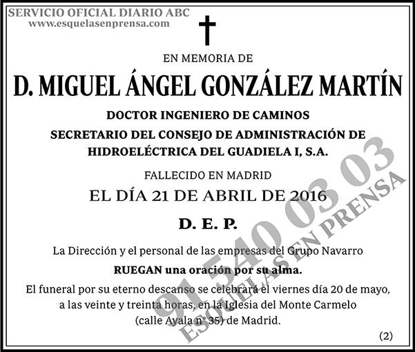 Miguel Ángel González Martín